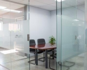 Blue Line Design glass office cubicle